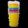Стакан пластиковый 400мл. Волна, цвет в ассорт.