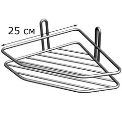 Полка угловая 1-ярусная, 2-х контурная металл