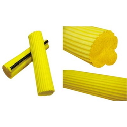 Губка для швабры, желтая мягкая, 27см.
