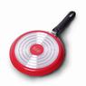 0601 Сковорода блинная Ø22см из алюминия с антипригарным покрытием (черная, красная)