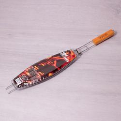 0708 Решетка для рыбы 36*12*2см с деревянной ручкой