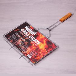 0717 Решетка для гриля 45*26*2см с деревянной ручкой