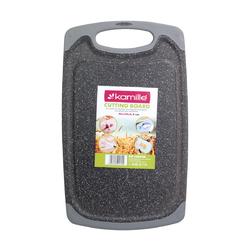 10059A Доска разделочная 40*24*0.8см пластиковая (серый мрамор)