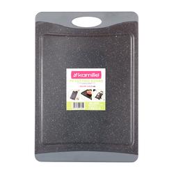 10072 Доска разделочная 43*29,7*0,9cm пластиковая (серый мрамор)