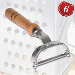 10679 Овощечистка с деревянной ручкой TM Pro-Drut