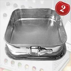 11362 Тортовница для выпечки квадратная 24*24см. металл. ТМ Pro-Drut