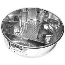11577 Тортовница для выпечки круглая ЕЛКА 28см. металл. ТМ Pro-Drut
