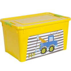 123098/2 Контейнер Smart Box декором My Car 27л. (желт.-желт.-оливк.)