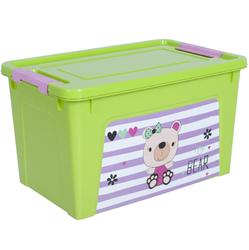 124045/1 Контейнер Smart Box декором Pet Shop 3,5л. (оливк.-оливк.-розов.)