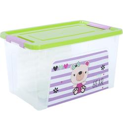 124045/2 Контейнер Smart Box декором Pet Shop 3,5л. (прозр.-оливк.-розов.)