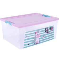 124046/4 Контейнер Smart Box декором Pet Shop 7,9л. (прозр.-розов.-бирюз.)