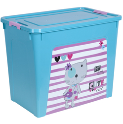 124049/2 Контейнер Smart Box декором Pet Shop 40л. (бирюз.-бирюз.-розов.)