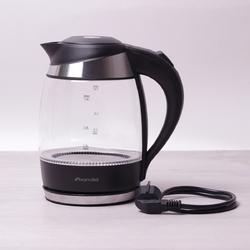 1702B Чайник 1.8л электрический с синей LED подсветкой и стальными декоративными вставками