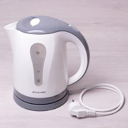 1715A Чайник 1.8л электрический пластик белый с серым