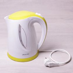 1717A Чайник 1.7л электрический пластик белый с салатовым