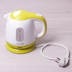 1719A Чайник 1л электрический пластиковый, белый-салатовый