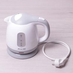 1719B Чайник 1л электрический пластиковый, белый-серый