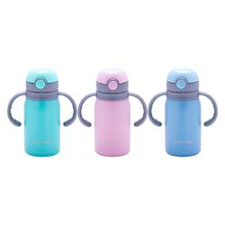2019 Термос для детей 300мл из нержавеющей стали с двумя ручками (розовый, голубой, бирюзовый)
