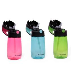 2300 Бутылка детская для воды 350мл из пластика (зеленый, розовый, голубой)
