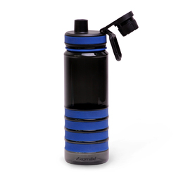 2302 Спортивная бутылка для воды 750мл из пластика (тритан) (черно-синий)