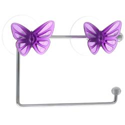 Держатель для туалетной бумаги на присоске (бабочка)