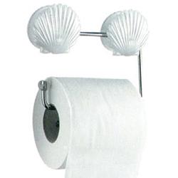 Держатель для туалетной бумаги на присоске (ракушки)