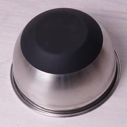 Миска Ø22-24см из нержавеющей стали c антискользящим силиконовым дном