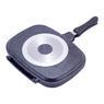 4432 Сковорода-гриль двойная 32*24см из литого алюминия с антипригарным покрытием