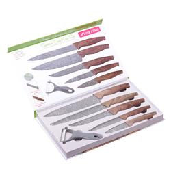 5043 Набор кухонных ножей в подарочной упаковке 6 предметов (5 ножей+пиллер)