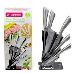 5131 Набор ножей 6 предметов из нержавеющей стали  и подставка из акрила