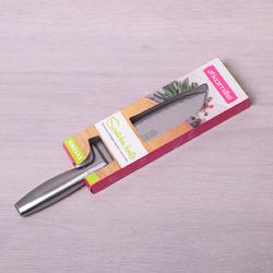 5142 Нож Сантоку нержавеющей стали с полой ручкой (лез. 16.5см; рук. 12см)