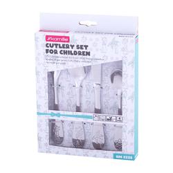 5335 Набор Детских столовых приборов 4пр. из нержавеющей стали