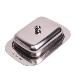 7006 Масленка 18.5*12*7см из нержавеющей стали