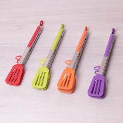 7517 Щипцы-лопатки силиконовые 30.5см с ручками из нержавеющей стали