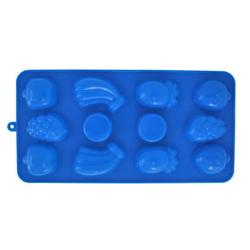 """7712 Форма силиконовая для льда/конфет 21.5*11*1.5см """"фрукты"""""""