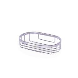 8501 Мыльница овальная 13*8.5*3см из нержавеющей хромированной стали