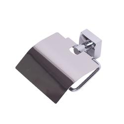 8808 Бумагодержатель универсальный 13.5*4.5*12см из нержавеющей хромированной стали с крышкой