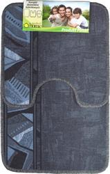 PL-8888 Набор ковриков для ванной и туалета, 2шт., 50*80см. на резиновой основе
