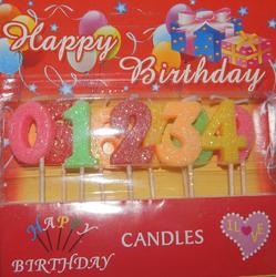 Набор свечей для торта, цифры 0-9. ТаДар