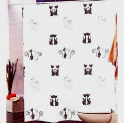 Штора Miranda BLACK CATS 180*200см. полиэстер