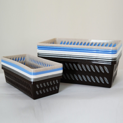 Корзинка ММ Box 0,75л.-10л. (коричн, серий, белый, голубой, крем)