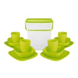 Набор посуды Алеана в контейнере с ручкой на 4 персоны