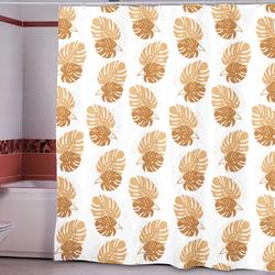 Штора Miranda PLANT beige 180*200см. полиэстер