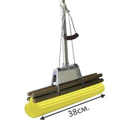 """Швабра с отжимом SUPERMOP """"Maxi Mop"""" -38 см. ручка 1,5 м. хром телескоп."""