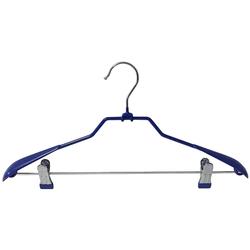 Вешалка Металлическая прорезиненая, с широкими плечиками и прищепками ТМ Fashion Paris