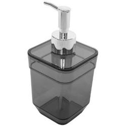 Дозатор для жидкого мыла CUBE, черный прозрачный