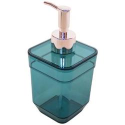 Дозатор для жидкого мыла CUBE, бирюзовый прозрачный