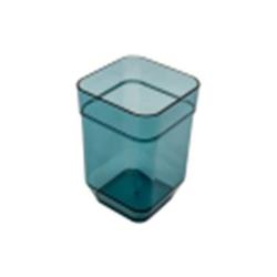 Стакан CUBE для полоскания бирюзовый прозрачный
