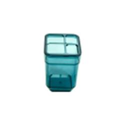 Стакан для зубных щеток CUBE бирюзовый прозрачный