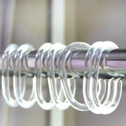 Кольца для шторок универсальные овальные, прозрачные, 12 шт. Wela